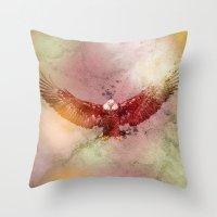 eagle Throw Pillows featuring Eagle by ron ashkenazi