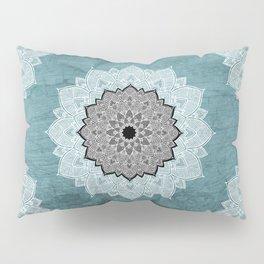 Dream Weaver Bohemian Mandala Black Blue White Pillow Sham