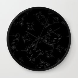 CrazyCats Wall Clock