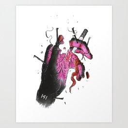 Smoke Up Art Print