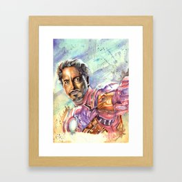 Tony Stark Framed Art Print