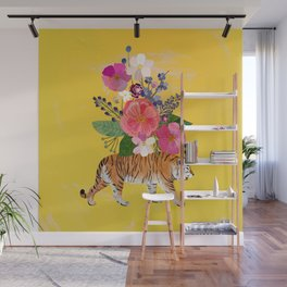 Tiger Bloom Wall Mural