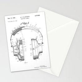 Headphones Patent Stationery Cards