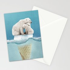 polar ice cream cap 02 Stationery Cards