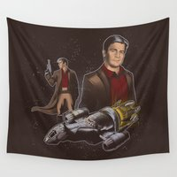 captain silva Wall Tapestries featuring Oh Captain My Captain by Nick Overman