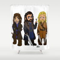 fili Shower Curtains featuring Durinsons by Gremlinloquacious