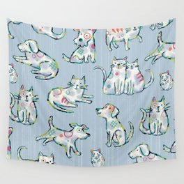 Dogs and Cats Wall Tapestry