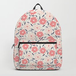 Pink and red flowers Backpack