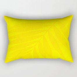 Palm Leaves Bright Yellow Color #decor #society6 #buyart Rectangular Pillow