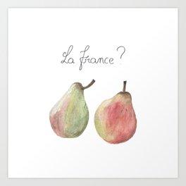 La France ? Art Print
