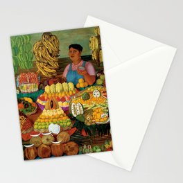 Las vendedoras de frutas by O. Costa Stationery Cards