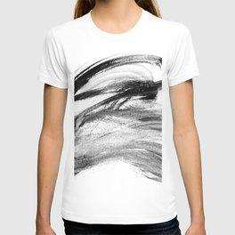I wash my brush to get grey T-shirt