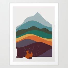 Cat Landscape 8 Art Print