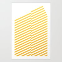 bands Art Prints featuring Yellow bands by blacknote