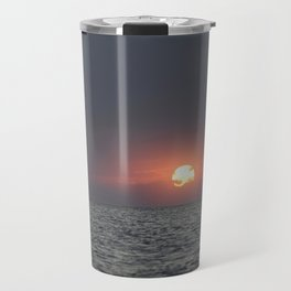 Sunset open sea Travel Mug