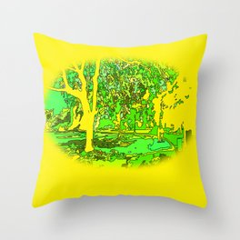 Park2 Throw Pillow