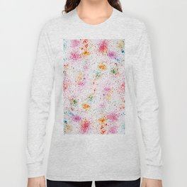 Spatters, splashes and sprays drawing method. Long Sleeve T-shirt