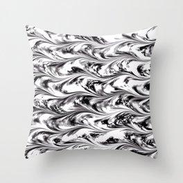 Texture on Texture, Black on White Throw Pillow
