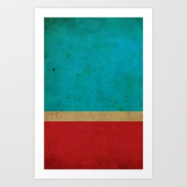 Flag Stripes Art Print