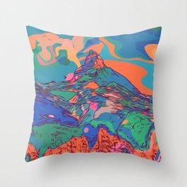 Matterhorn Mountain Throw Pillow