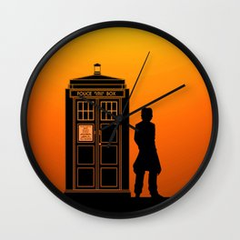 Tardis With The Eighth Doctor Wall Clock