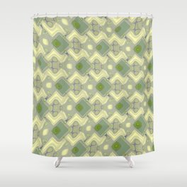 Abstract FF Q YYY Shower Curtain