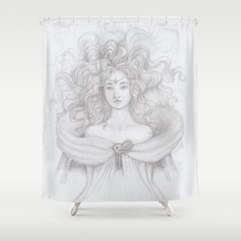 Flirting Fantail Shower Curtain