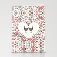 wesley bird Stationery Cards featuring BIRD by Monika Strigel