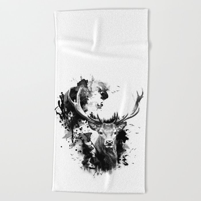 Once upon a Stag Beach Towel