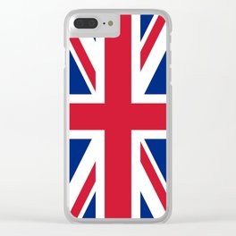 Union Jack Authentic color and scale 3:5 Version  Clear iPhone Case