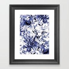 Changes Indigo Framed Art Print