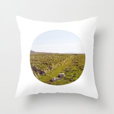 Sheeps in Iceland Throw Pillow