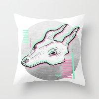 glitch Throw Pillows featuring Glitch by Sonia Lazo