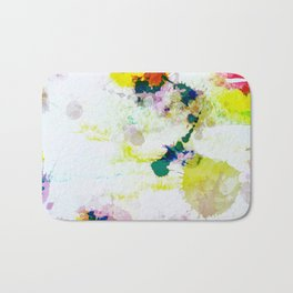 Abstract Paint Splatter Art Bath Mat