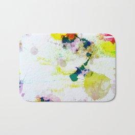 Abstract Paint Splatter Art Bath Mat