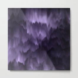 Purple and black. Abstract. Metal Print