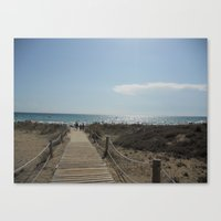 boardwalk empire Canvas Prints featuring Boardwalk by Tasha Saussey