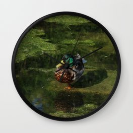 Duck's portrait Wall Clock