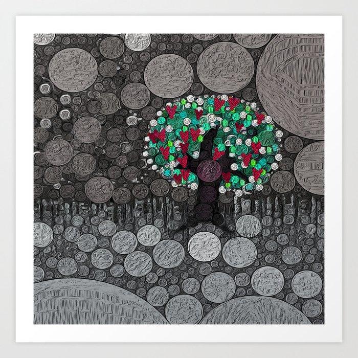 :: Tree of Hearts :: Art Print