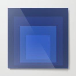 Block Colors - Blue Metal Print