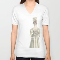 pride and prejudice V-neck T-shirts featuring Pride and Prejudice by Bonnie J. Breedlove