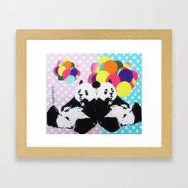 twins panda Framed Art Print