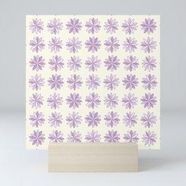 Purple Daisies Pattern Mini Art Print