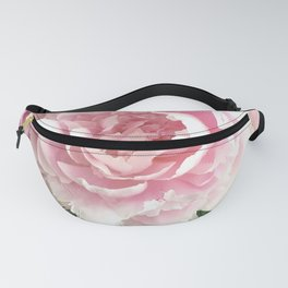 Romantic Pink Peony Flower In Vase  Fanny Pack