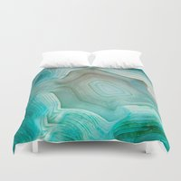 clock Duvet Covers featuring THE BEAUTY OF MINERALS 2 by Catspaws