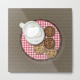 Milk and Cookies Metal Print