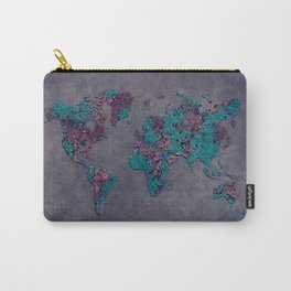 world map 83 green mosaic Carry-All Pouch