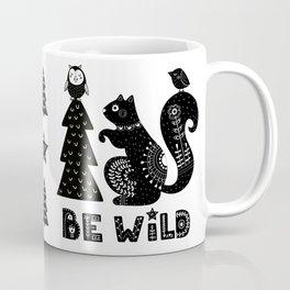 Be Wild Cute Owl And Squirrel In Scandinavian Style Coffee Mug