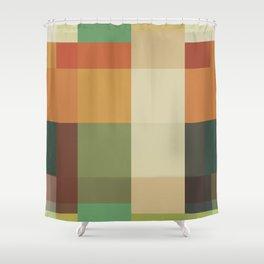 Retro Geometry Shower Curtain