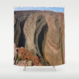 The Goosnecks - A Meander Of The San Juan River Shower Curtain